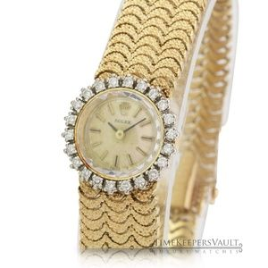 Rolex Vintage Ladies 14k Yellow Gold Diamond Watch